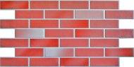 Червона фасадна панель під цеглу